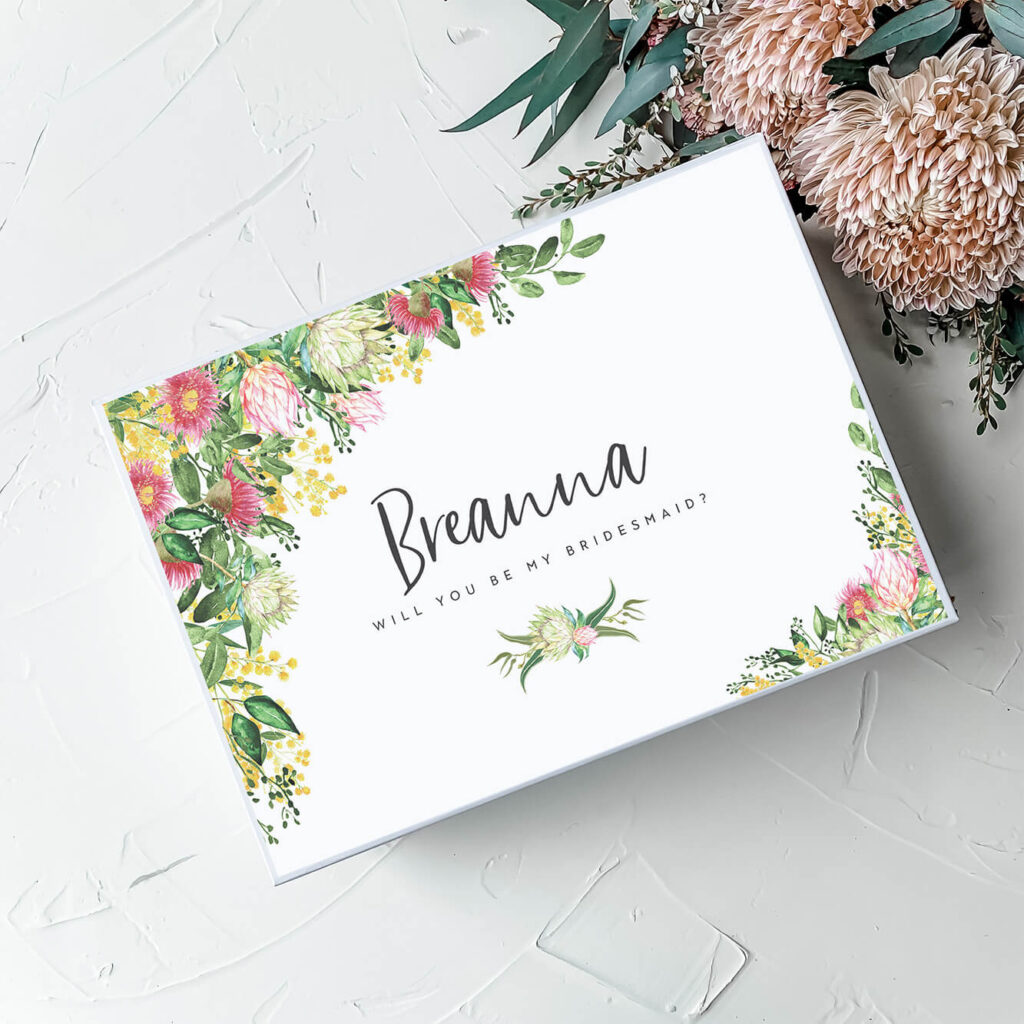Native Bouquet | Personalised Gift Boxes & Bridesmaid Boxes Perth WA