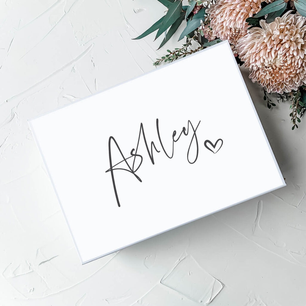 Thorne - White | Personalised Gift Boxes & Bridesmaid Boxes Perth WA