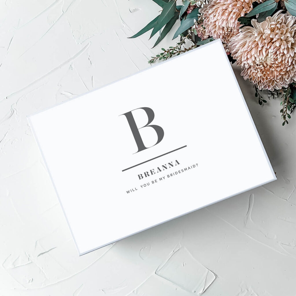 Treasury - Black on White | Personalised Gift Boxes & Bridesmaid Boxes Perth WA