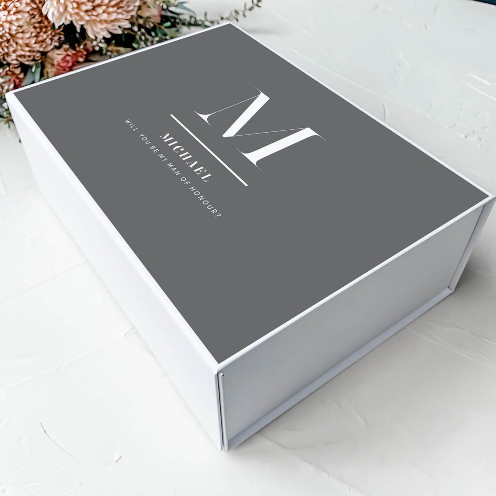 Treasury - White on Black | Personalised Gift Boxes & Bridesmaid Boxes Perth WA