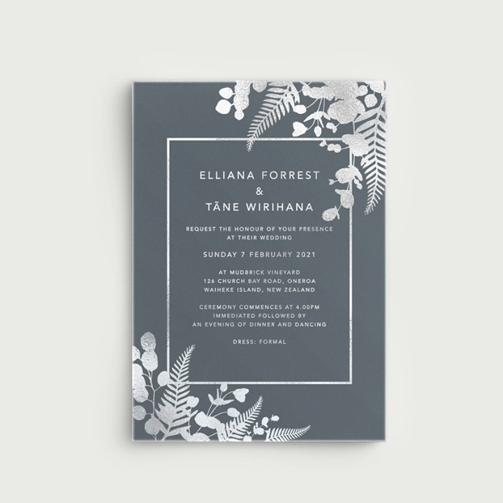 Foil Printing on wedding invitations - Lala Design Perth WA