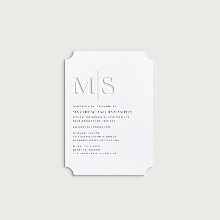 Minimalist Design wedding invitations - Lala Design Perth WA