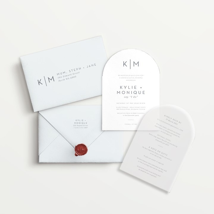Vellum wedding invitations - Lala Design Perth WA