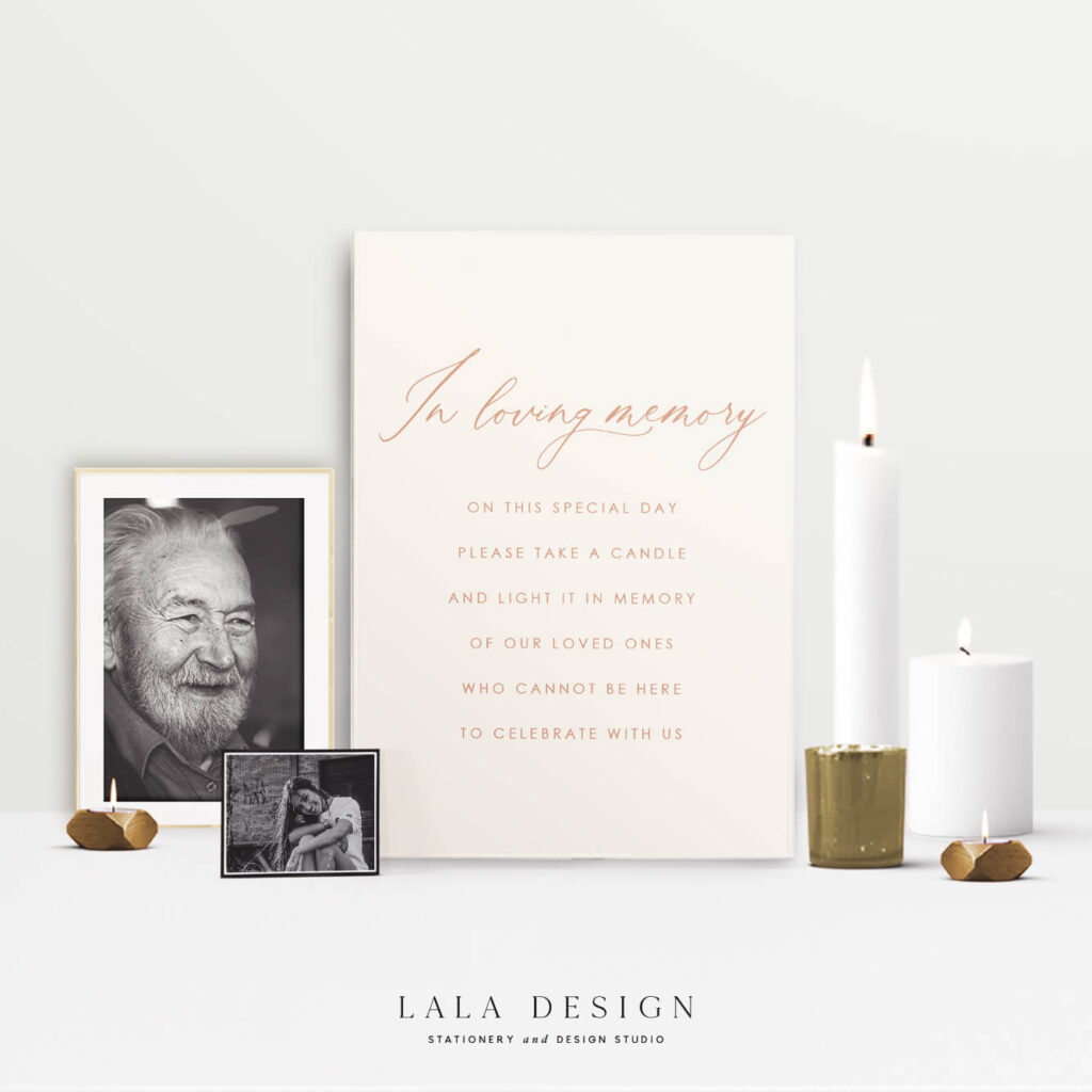 Memorial signage | Wedding stationery & signs - Perth WA
