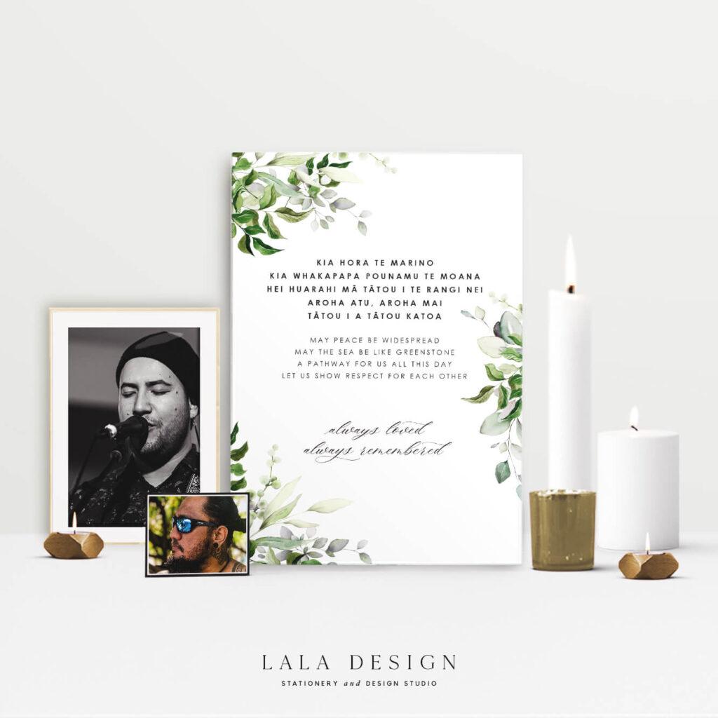 Memorial signage | Wedding stationery & signage - Perth WA