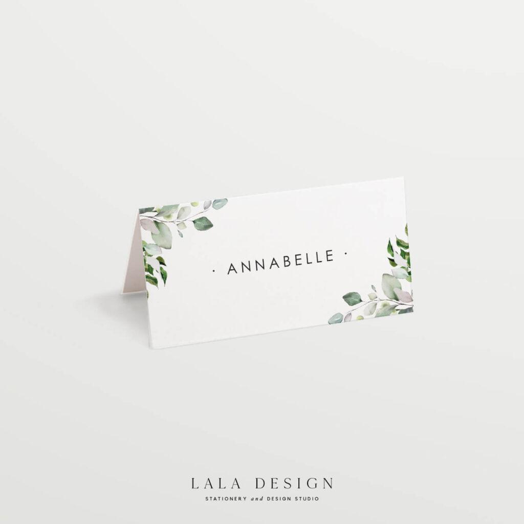 Wedding reception place cards | Luxury wedding stationery - Perth WA