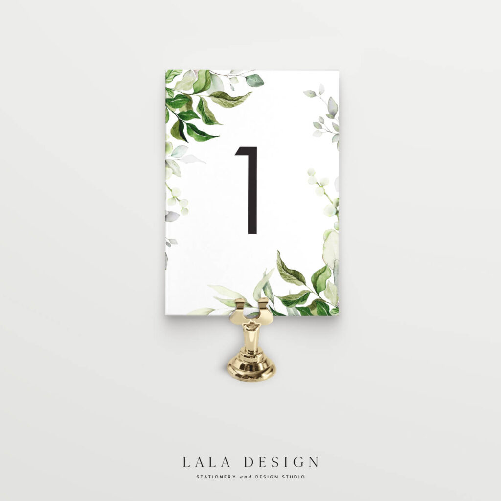 Wedding reception table numbers | Wedding signage & stationery - Perth WA