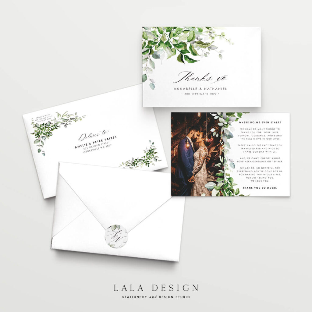 Luxury wedding thank you cards you can order now | Wedding stationery - Perth WA
