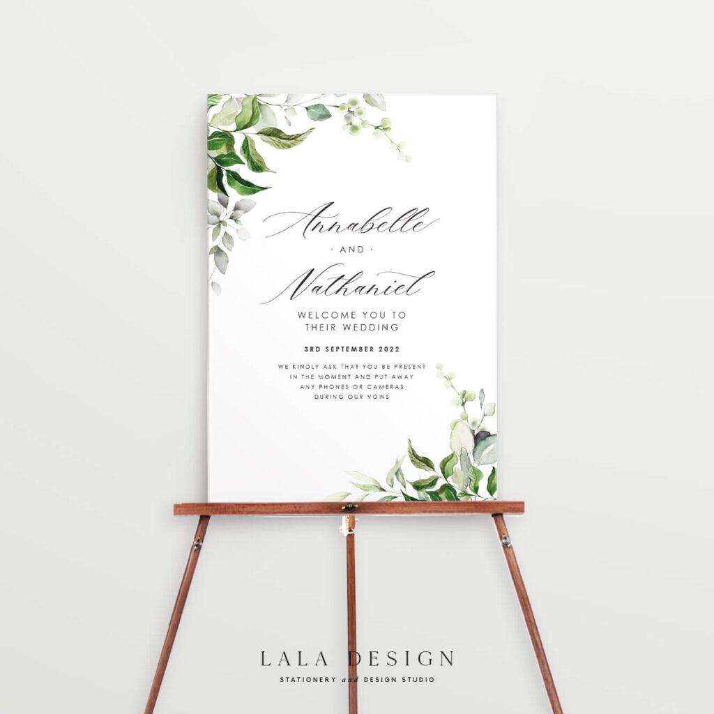 Premium wedding welcome signage | Wedding stationery - Perth WA