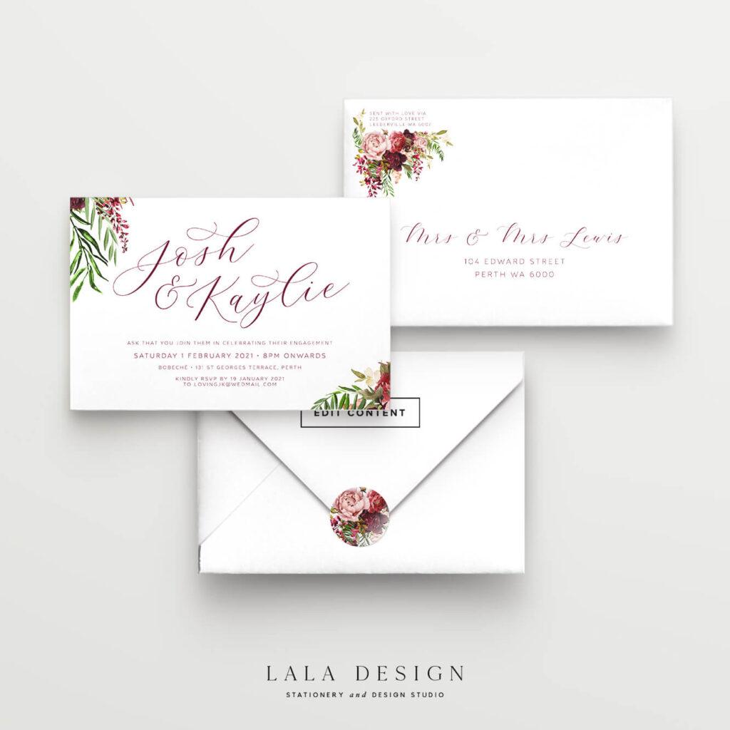 Engagement invitations   Luxury Wedding Stationery - Lala Design Perth WA