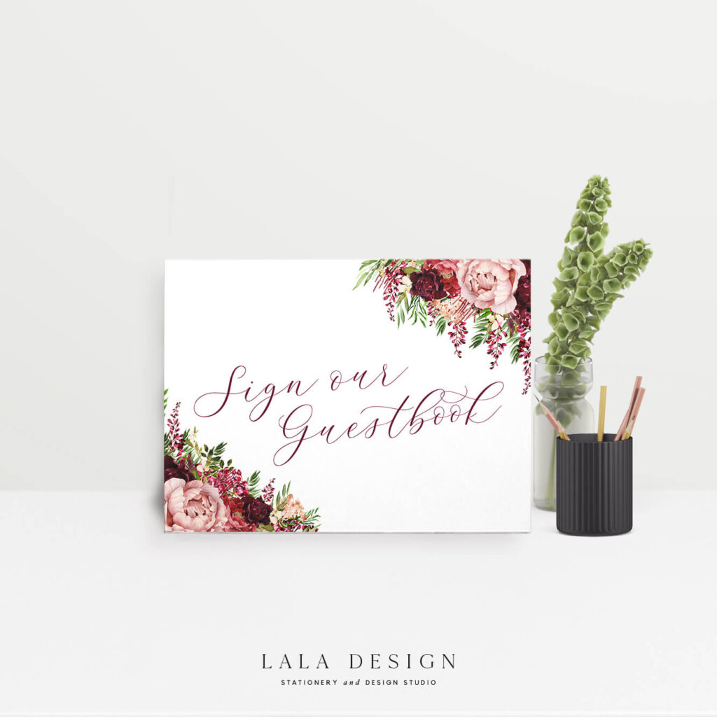 Sign our guestbook sign | Luxury wedding stationery & signage Perth WA