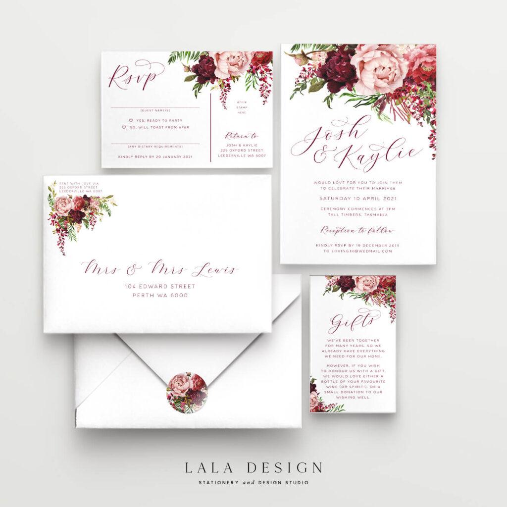 3 Piece Invite Set | Luxury Wedding Stationery - Perth WA