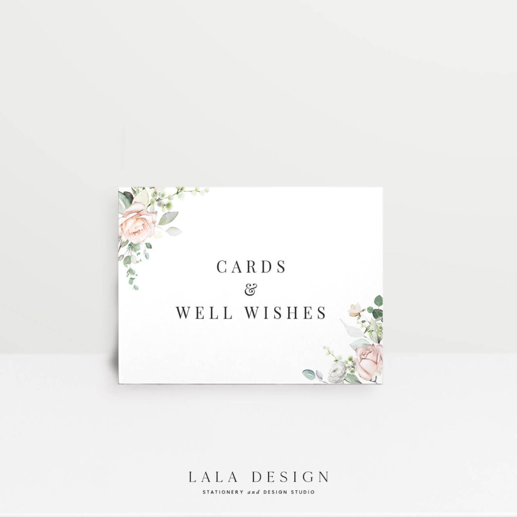 Cards & Wishing Well Sign | Luxe Wedding Stationery - Perth WA