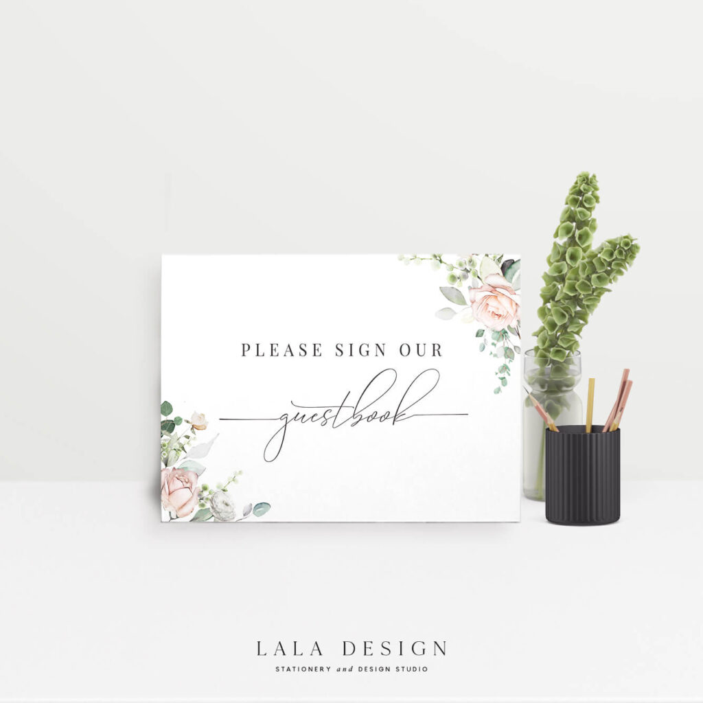 Wedding guestbook sign | Luxury on the day stationery - Perth WA