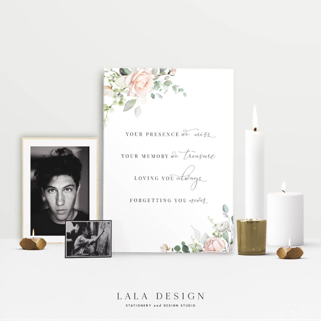 Memorial signs | Wedding signage & stationery - Perth WA