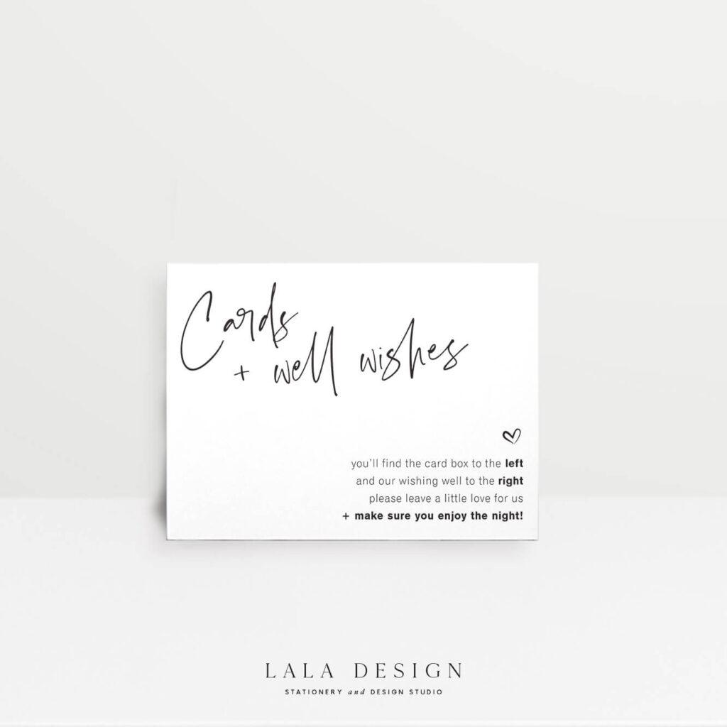 Wishing well card - Thorne - Lala Design Perth