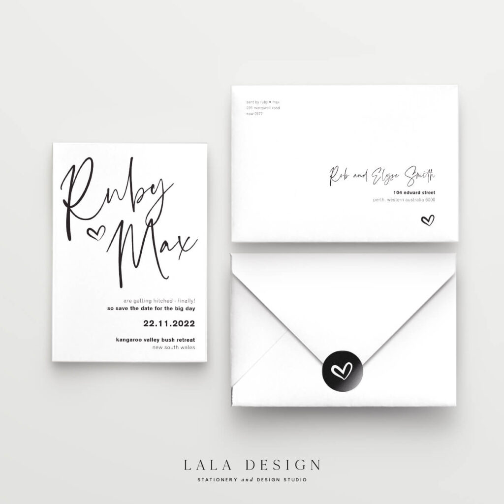 Save the Dates - Thorne - Lala Design Perth WA