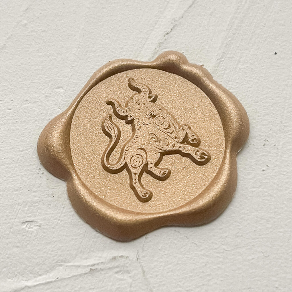 Year of the Ox wax seal for angpows   Chinese new year envelopes Perth WA