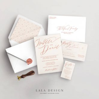 Wedding stationery full sets | Allegra - Perth WA