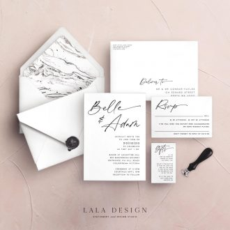 Wedding stationery complete sets | Belle - Perth WA