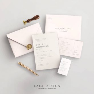 Studio Collection | Fenix | Luxury wedding stationery Perth WA