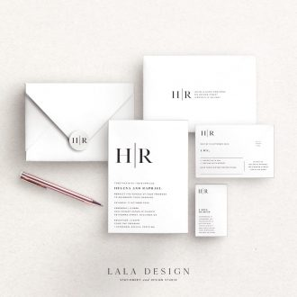 Studio Collection | Treasury | Luxury wedding stationery Perth WA