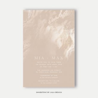 Wedding stationery full set | Sandstone - Perth WA